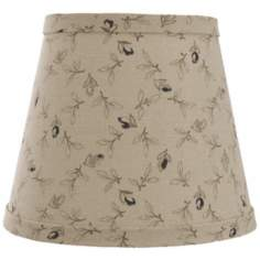 Taupe with Black Rosebuds Lamp Shade 10x18x13 (Spider)