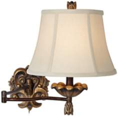 Gold Fleur-de-Lis Swing Arm Wall Light
