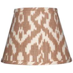 Set of 6 Camel and Cream Ikat Shades 4x6x5.25 (Clip-On)