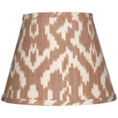 "Camel and Cream Ikat Lamp Shade 9x16x12"" (Spider)"