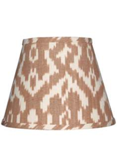 Camel and Cream Ikat Lamp Shade 10x18x13 (Spider)