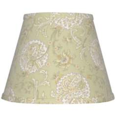 Set of 6 Pale Green Jacobean Lamp Shades 4x6x5.25 (Clip-On)