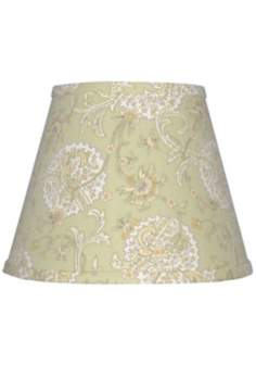 "Pale Green Jacobean Lamp Shade 10x18x13"" (Spider)"