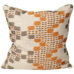 "Morocco 18"" Square Orange Designer Pillow"