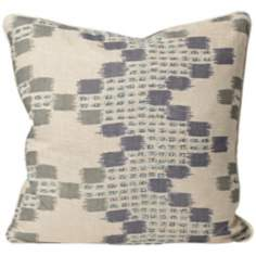 "Morocco 18"" Square Blue Designer Pillow"