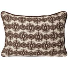 "Dunes 20"" Wide Brown Designer Pillow"