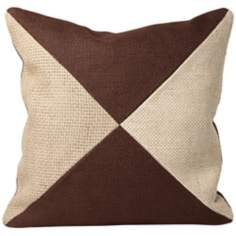 "Jute 22"" Square Block Designer Pillow"