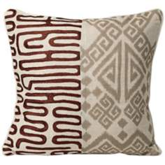 "Nativa 18"" Square Brown Designer Pillow"