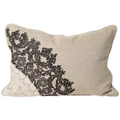 "Lacey 20"" Wide Rectangular Designer Pillow"