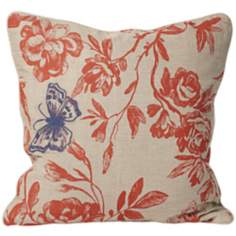 "Wild Blue Butterfly 18"" Square Designer Pillow"