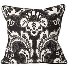 "Divine 18"" Square Black and White Designer Pillow"