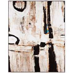 "Beyazit 24"" Wide Framed Laminate Abstract Wall Art"
