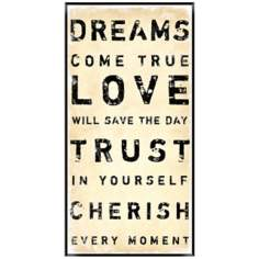"Typography 24 1/2"" High Dream Framed Wall Art"