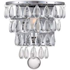 "Possini Euro Design 5 1/2"" Wide Crystal Drops Wall Sconce"