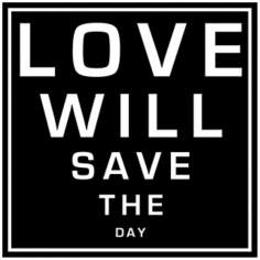 "Love Will Save the Day (A) 12"" Square Word Wall Art"