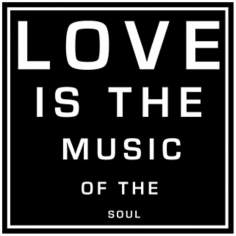 "Love Is the Music (B) 12"" Square Word Wall Art"