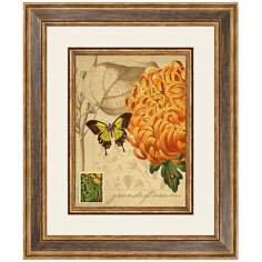 "Flora A 24 1/2"" High Framed Botanical Wall Art"