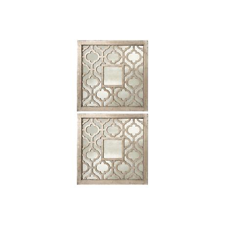 Set of 2 Uttermost Silver Sorbolo Decorative Wall Mirrors