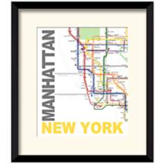 "Subway A 17 1/2"" High New York Wall Art"