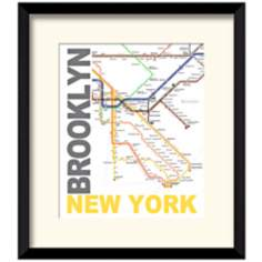 "Subway B 17 1/2"" High New York Wall Art"