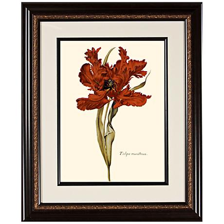 "Warm Floral B 23 3/4"" High Framed Botanical Wall Art"