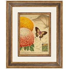 "Flora B 24 1/2"" High Framed Botanical Wall Art"