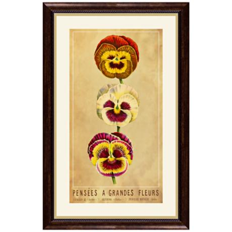 "Fleurs A 22 1/2"" High Framed Botanical Wall Art"