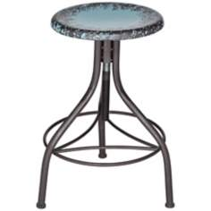 Gardenia Teal Blue Adjustable Bar Stool