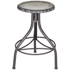 Gardenia Natural Metal Adjustable Bar Stool
