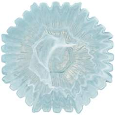 Blue Alabaster Sunflower Platter