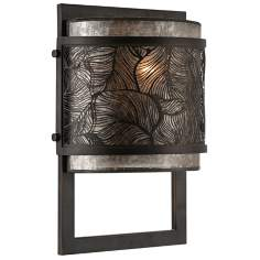 "Quoizel Daly 8"" Wide Leaf Grille Wall Sconce"
