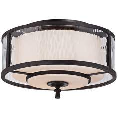 "Adonis 15"" Wide Flush Mount Quoizel Ceiling Light"