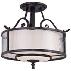 "Adonis 15"" Wide Semi-Flushmount Quoizel Ceiling Light"