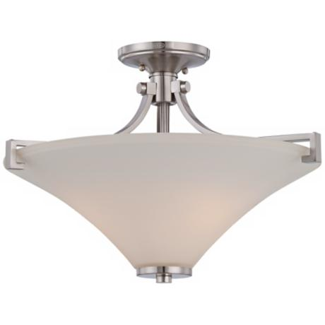 "Quoizel Dryden 20 1/2"" Wide Nickel Ceiling Light Fixture"
