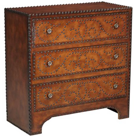 Sahara Brown Faux Leather Chest