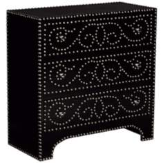 Sahara Three-Drawer Accent Chest With Nail Head Detailing