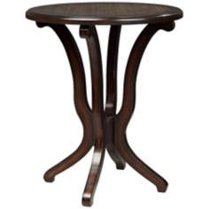 Basilia Lush Brown Embossed Accent Table