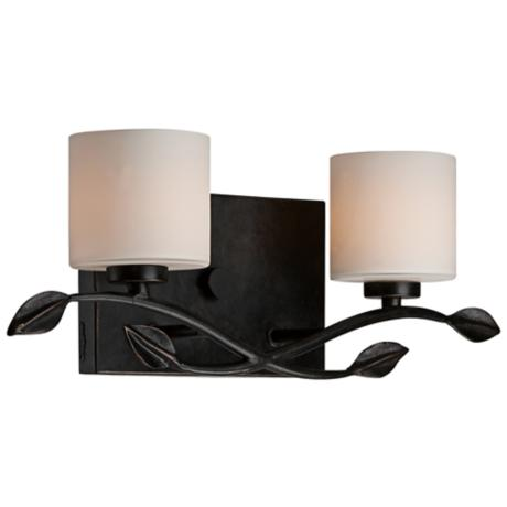 "Quoizel Erin 17"" Wide 2-Light Imperial Bronze Vanity Light"
