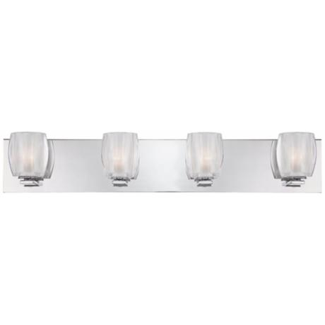 "Forme Optics 4-Light 30"" Wide Bathroom Light Fixture"