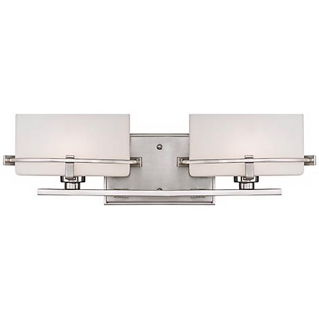 "Quoizel Nolan 19"" Wide LED Brushed Nickel Bath Light"