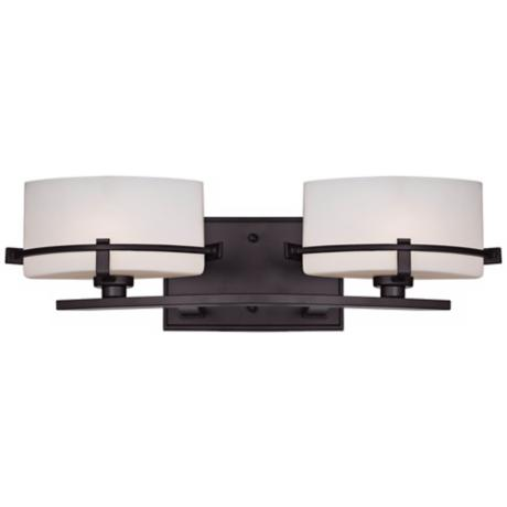 "Quoizel Nolan 19"" Wide 2-Light Western Bronze Bath Light"