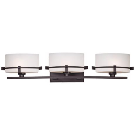 "Quoizel Nolan 26 1/2"" Wide 3-Light Western Bronze Bath Light"
