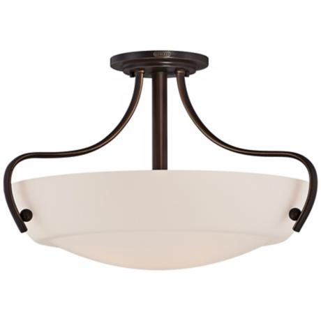 "Quoizel Chantilly 22"" Wide Bronze Ceiling Light Fixture"
