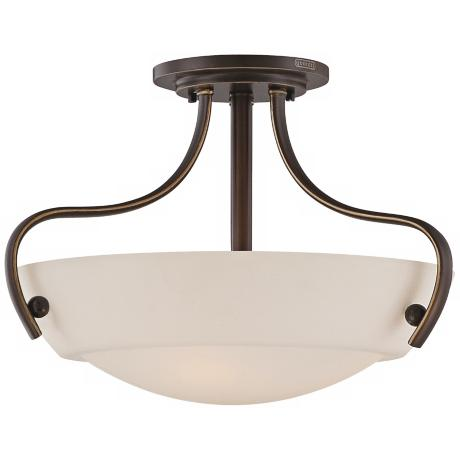 "Quoizel Chantilly 18"" Wide Bronze Ceiling Light Fixture"
