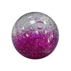 Pink Flashing Glitter LED Bouncy Ball