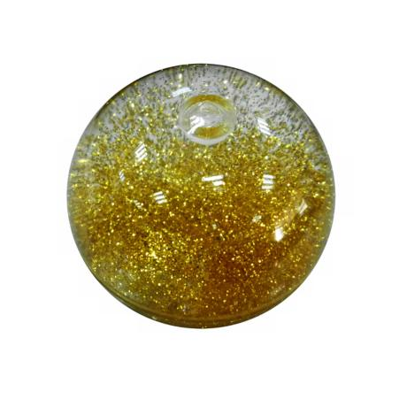 Gold Flashing LED Glitter Bouncy Ball