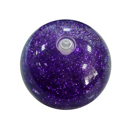 Purple Glitter LED Flashing Bouncy Ball