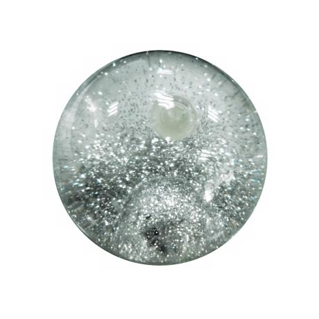 Silver Flashing Glitter Bouncy Ball