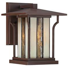 "Quoizel Langston 7"" Wide Chocolate Bronze Outdoor Wall Light"