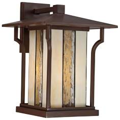 "Quoizel Langston 11"" Wide Bronze Outdoor Wall Light"